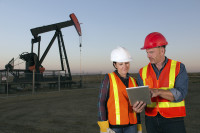 Oil Workers and Pumpjack